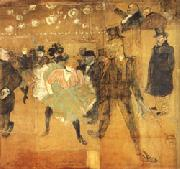 Dancing at he Moulin Rouge Henri de toulouse-lautrec